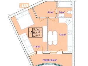 продажаоднокомнатной квартиры на улице 16 ст Большого Фонтана